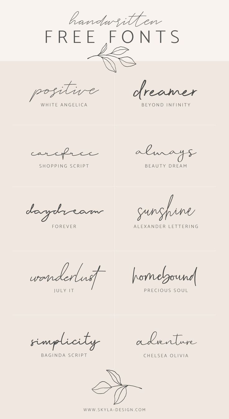 Jamie saved to JamieHandwritten free fonts | post by Skyla Design