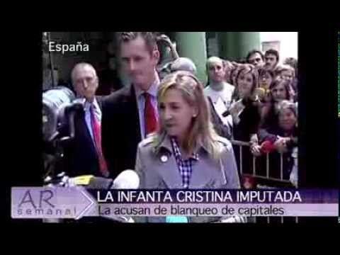 ARsemanal, el resumen internacional de noticias (Programa 33) La Infanta Cristina fue imputada por fraude fiscal, una decisión que conmocionó a toda España. La situación en EE.UU. tiende a normalizarse luego de la tremenda ola polar que afectó gran parte del país. Dos de los temas del programa de esta semana. http://andresrepetto.tv/video/arsemanal-el-resumen-internacional-de-noticias-programa-33-972