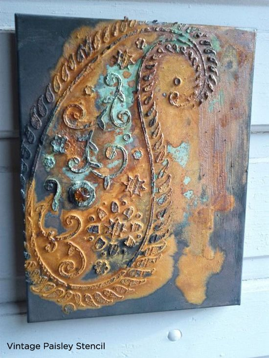 Unique Vintage Paisley stenciled wall art is the perfect piece to spruce up your home decor! http://www.cuttingedgestencils.com/paisley-stencil-vintage.html