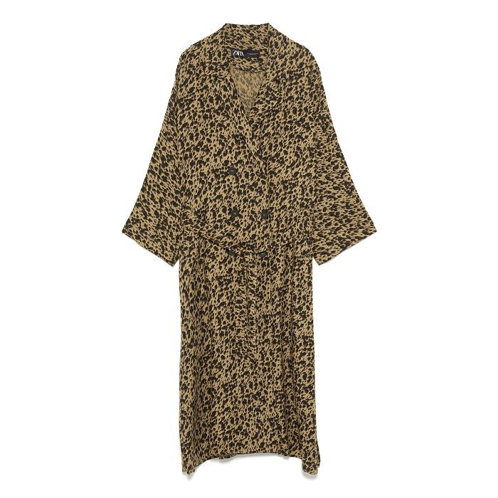 196ddeda6a Flowing animal print trench coat in 2019 | Shopping List | Coat ...