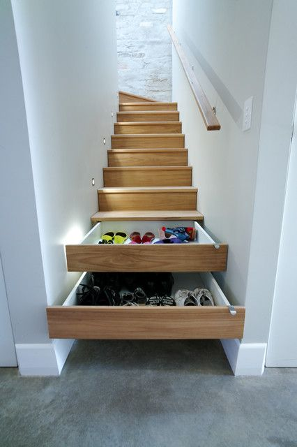 Interesting ideas for different parts of the house. Staircase