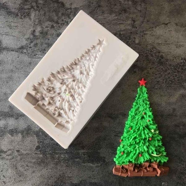 New Christmas Elk Christmas Tree Liquid 3d Silicone Mold Diy Sugar Cake Baking Moulds Kitchen Fondant Mold Cake Decorating Fondant Tools Kitchen Tool Noel Moule Fruit Cake Christmas Chocolate Cake Decoration