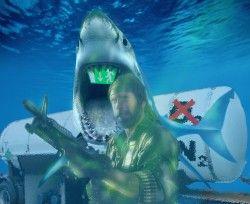 """Weißer Hai von Chuck Norris zu Tode erschreckt. Größtes Massensterben aller Zeiten durch Chuck Norris vrursacht. Paul Boegle hat sich den neuen Blockbuster """"Missing in Meerestiefe IV"""" von und mit Chuck Norris angesehen."""