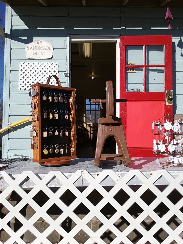 Our Handmade In NJ Shop located at the New Egypt Flea Market Village, 933 Monmouth Rd - Building 8W, Cream Ridge, NJ 08514.