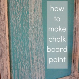 homemade chalkboard paint recipe ... make a chalkboard in any color