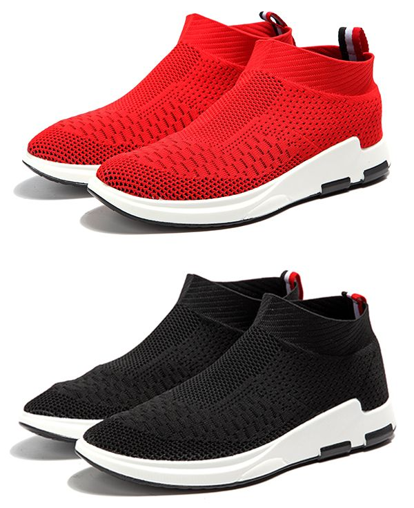 Mens Womens Running Socks Shoes Flyknit Breathable Slip On Casual Trainers Sport