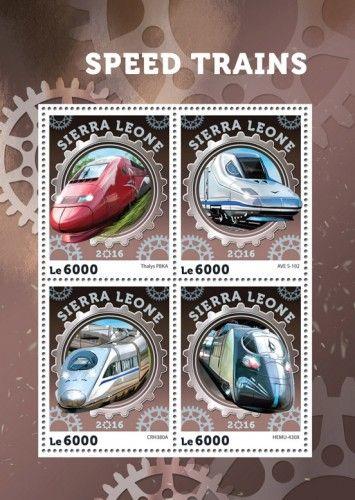 SRL16404a Speed trains (Thalys PBKA; AVE S-102; CRH380A; HEMU-430X)