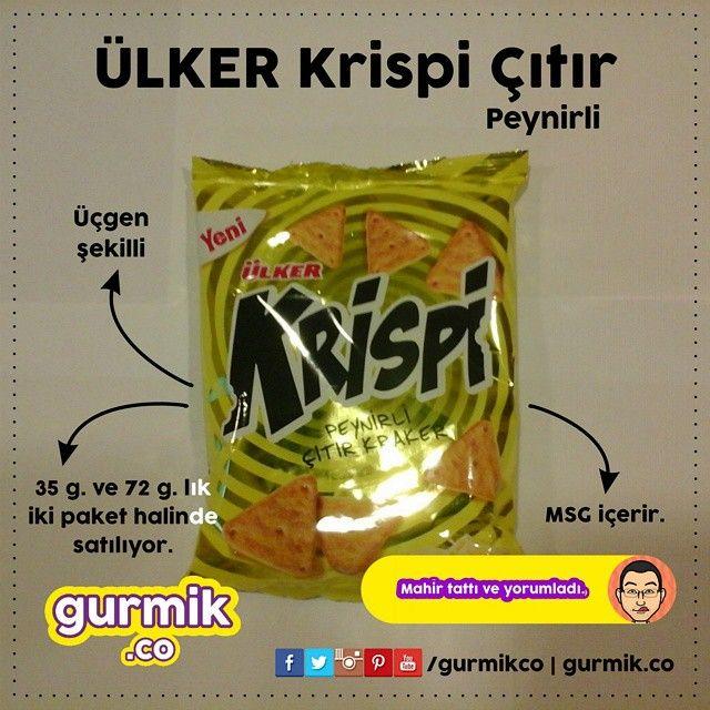Ülker'den kuralları değiştiren çıtır kraker: #Krispi Çıtır Peynirli. Üçgen şekilde olan çıtır kraker Çayırova fabrikasında üretiliyor. 35 ve 70 g.'lık iki paketle piyasaya sunulan krakerde ambalaj...