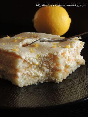 TIRAMISU AU CITRON (Pour 8 à 10 P : 2 boîtes de biscuits à la cuiller, 500 g de mascarpone, 4 oeufs, 100 g de sucre, zeste d'1 citron) (SIROP : 120 g de jus de citron, 100 g d'eau, zeste d'un citron, 3 c à s de sucre)