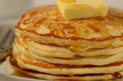 Very good pancake recipe. Not too cakey or thick. Nice and thin and a little crispy on top.