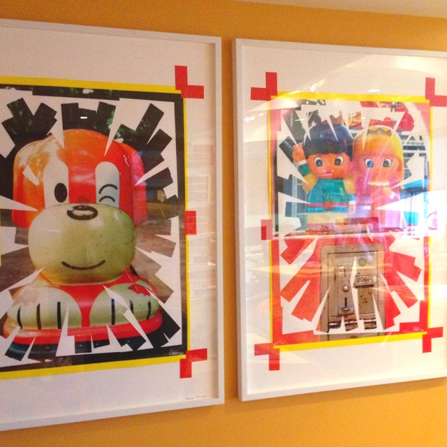Knarf artwork in our office of Japanese arcade games