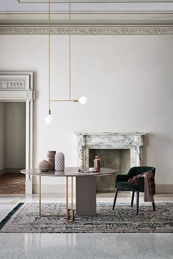 Beautiful Dining Room With The Juxtaposition Of Old Architecture