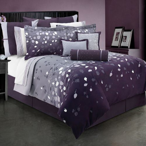 24 Best Images About Purple N Grey On Pinterest Bedding