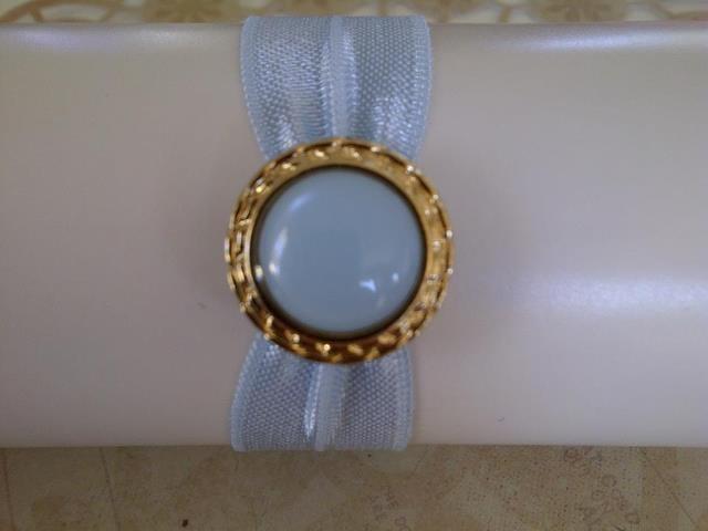 Blue Pearl Hair Band $4