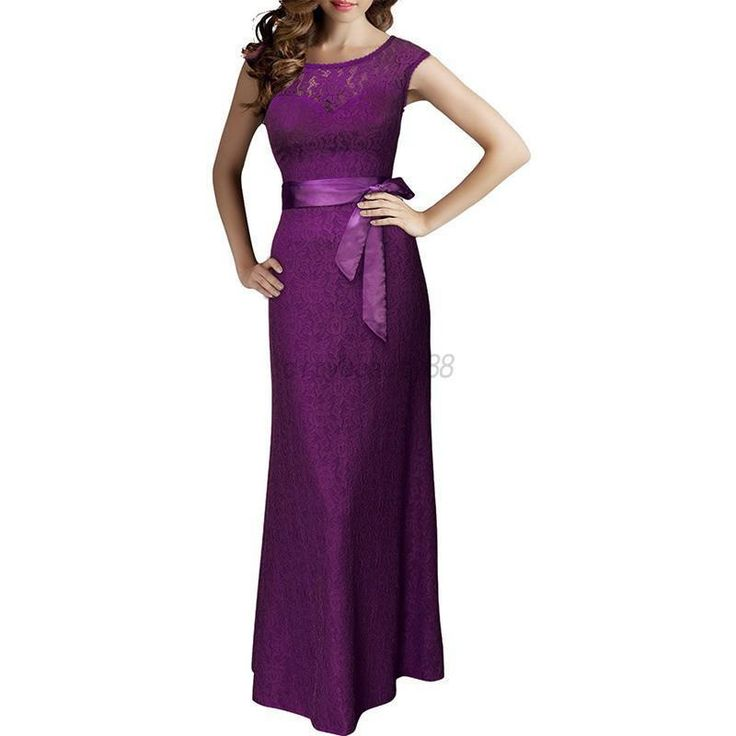 Nice US Women Lace Sleeveless Bodycon Formal Party Prom Gown Bridesmaid Long Dress  Bridesmaid Dresses