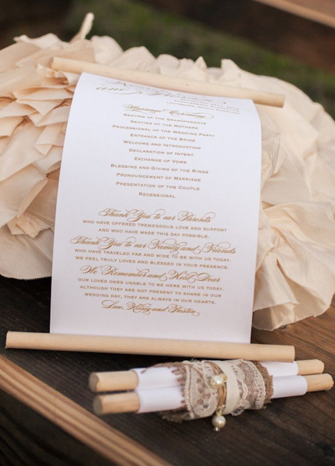 Lovely Fabulous Guide To Wedding Programs