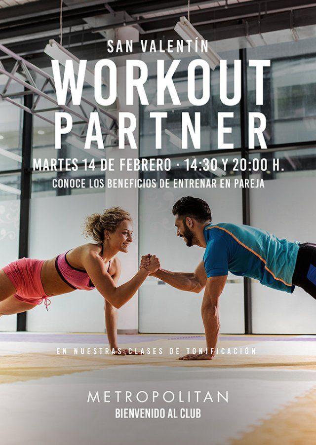 Descubre los beneficios de entrenar en pareja con nuestra sesión de San Valentín Workout Partner.   Martes,  14 de Febrero a las  14:30 y a las 20:00 h. en Metropolitan Abascal.