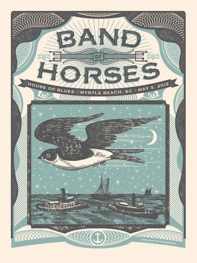 Band of Horses - Myrtle Beach by Status Serigraph