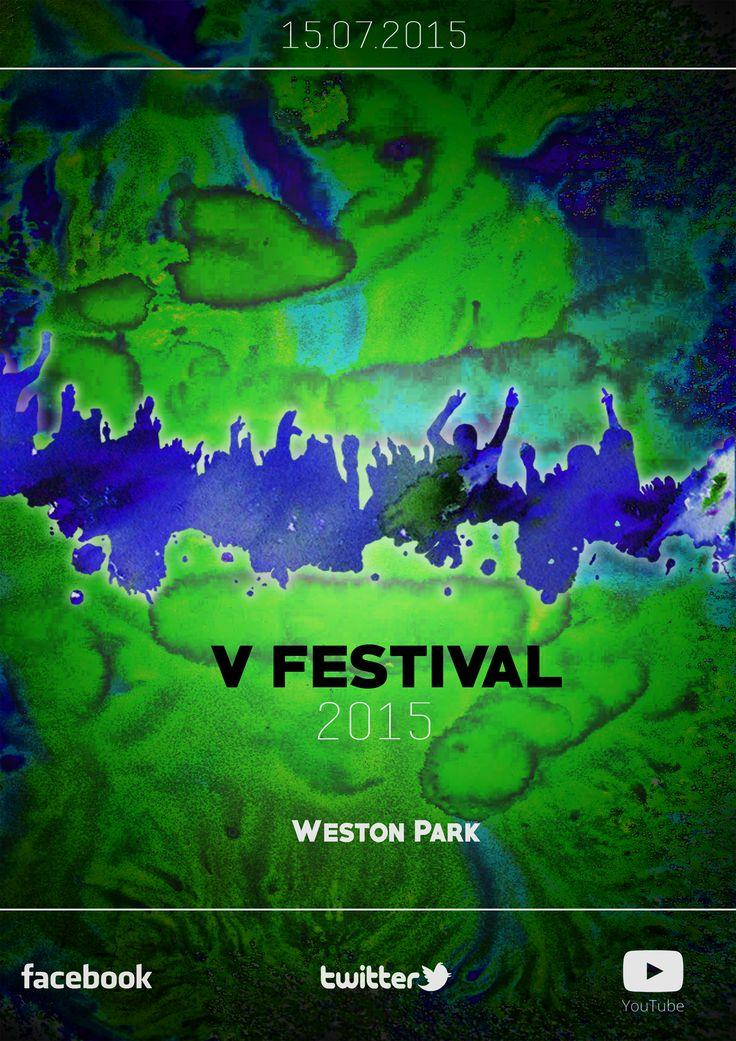V Festival Green/Blue Design