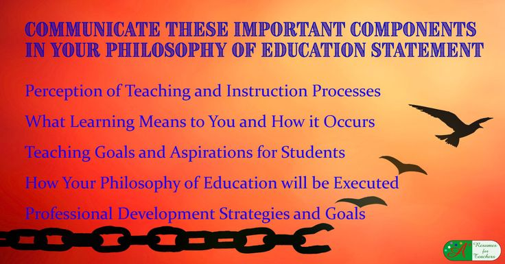 A philosophy of education statement is an integral component of your teaching portfolio. This statement helps to demonstrate how you have been purposeful about your teaching.