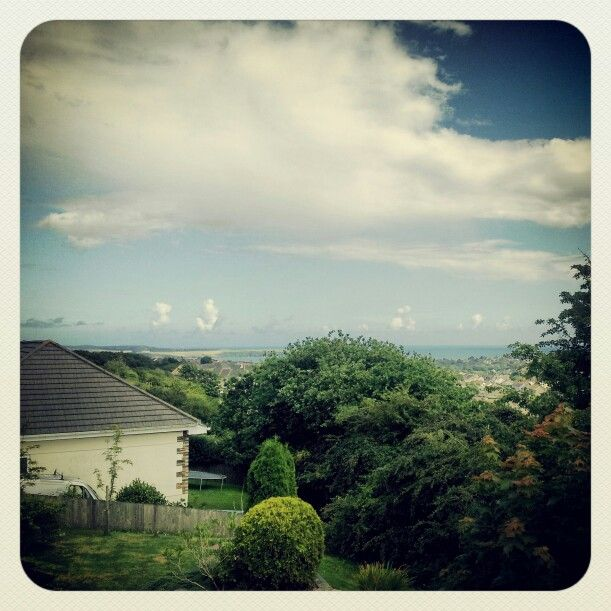 The view from the Lookout Guesthouse over St Austell