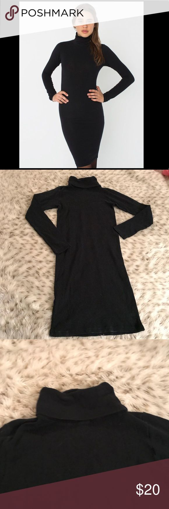 American Apparel black turtleneck dress American Apparel black turtle neck dress! Size small! Stretchy! Excellent used condition! Length is 35 inches! American Apparel Dresses