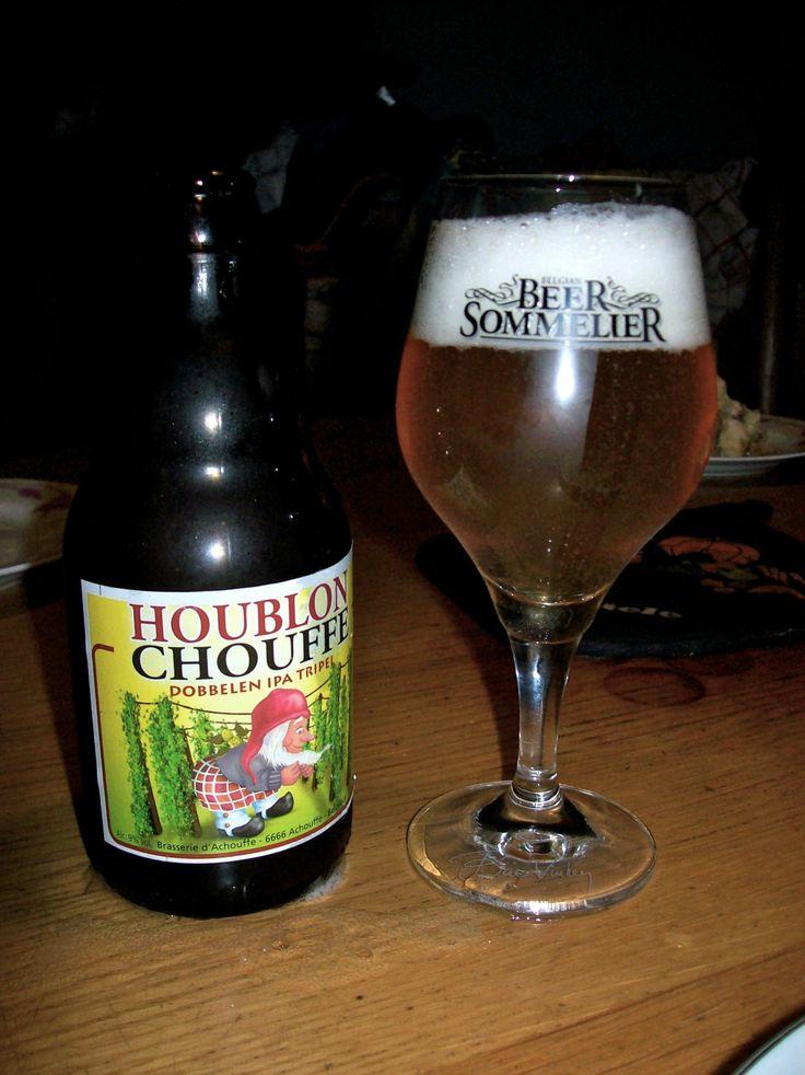 Houblon chouffe from brewery Achouffe in Achouffe.  Alc; vol.: 9% serve at: 4° -10°
