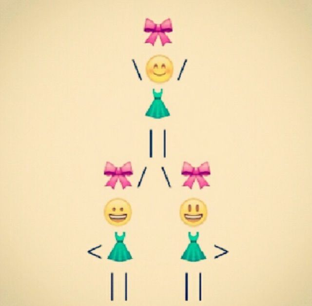 Absolutely adorable! Cheerleaders stunting in emojis!!