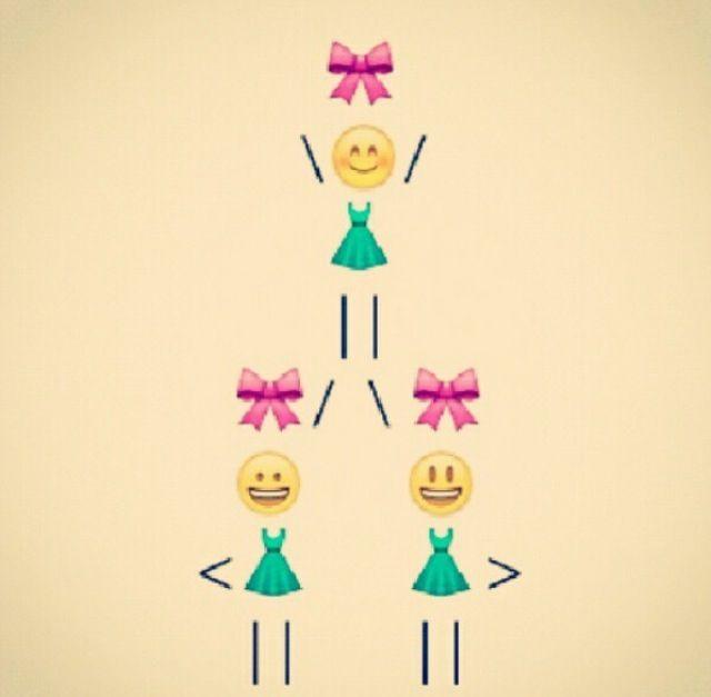 Absolutely adorable! Cheerleaders stunting in emojis!!