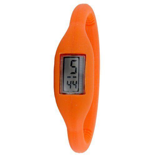 "Golden Classic Women's 2174_orange ""Sporty Jelly"" Skinny Orange Silicone Digital Watch Golden Classic. $16.80. Save 30%!"