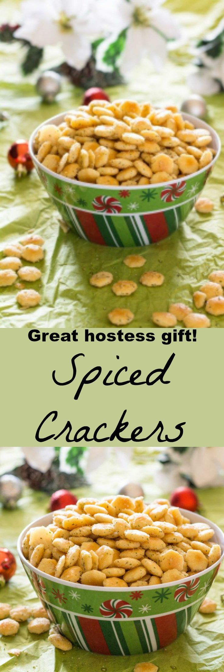 Toasty crackers with ranch dressing and other spices. Perfect for holiday gift giving, tailgating, Super Bowl Parties, and snacking. Try them with tomato soup.