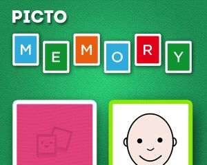 Pictojuegos/ Pictomemory: Juego clásico de memoria orientado a la comprensión, reconocimiento e identificación de emociones, mediante actividades de asociación de parejas iguales (representadas con pictogramas de ARASAAC)