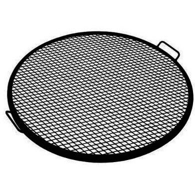 "This metal mesh cooking grate is a simple and efficient way to grill food on your fire pit. This grate is made with durable metal construction. 1 year manufacturer's warranty. 19""- 19"" diameter grate"