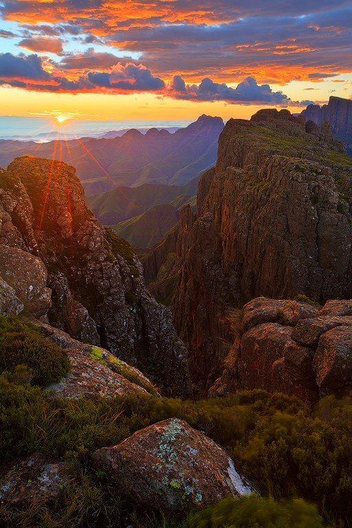 The highest mountain range in Southern Africa - Drakensberg