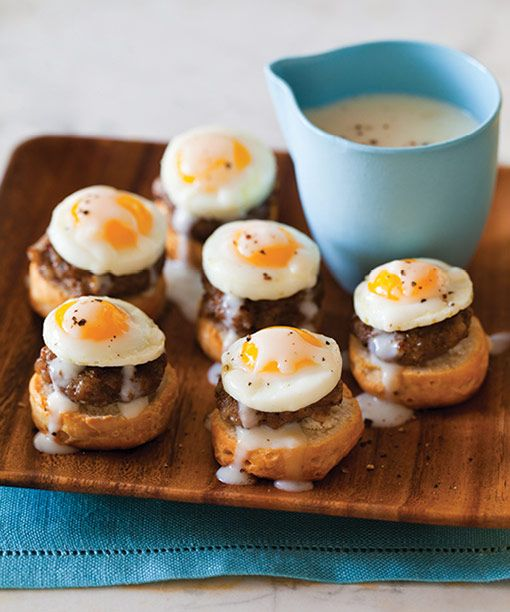 Itty Bitty Country Style Eggs Benedict from TINY FOOD PARTY! by Teri Lyn Fisher and Jenny Park