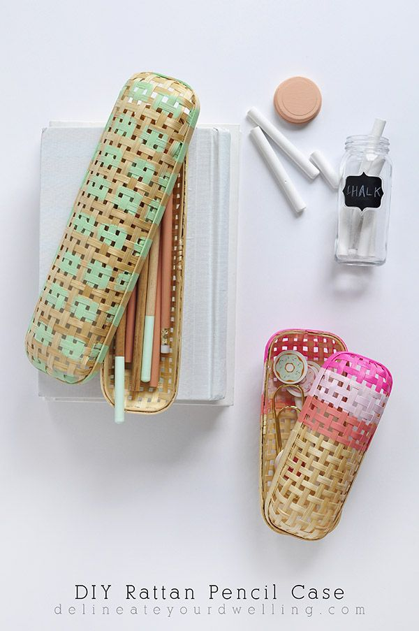 Perfect Back to School DIY Rattan Pencil Case from an IKEA case- Delineate Your Dwelling