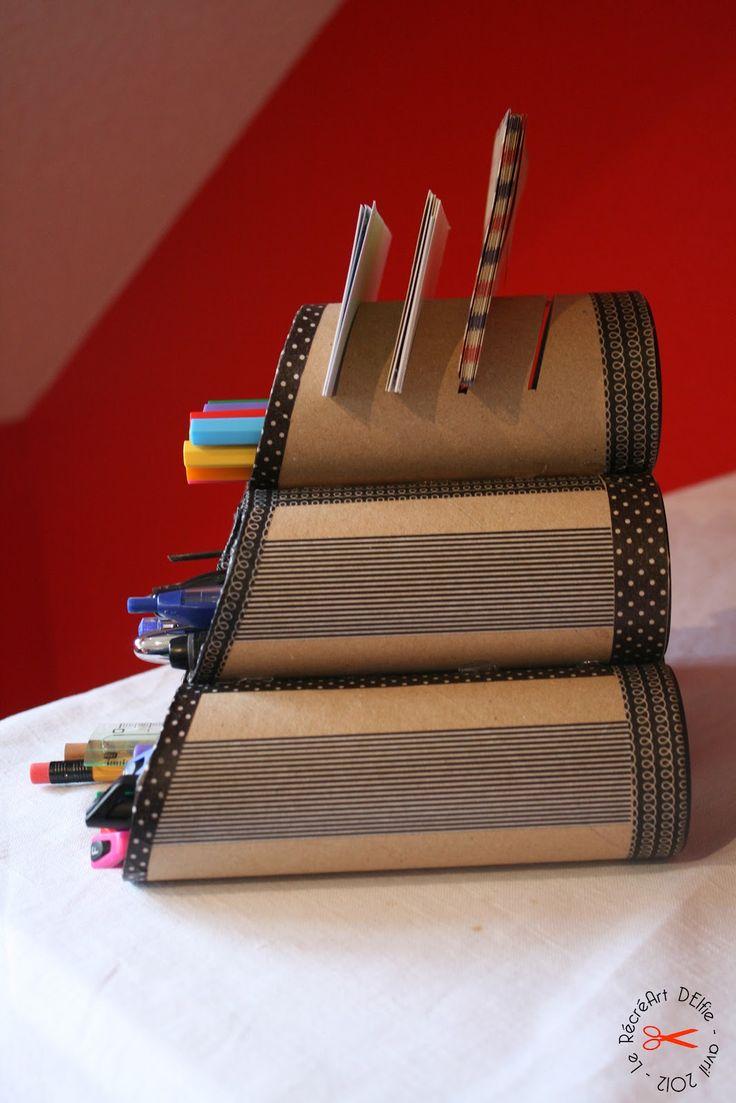 Le RécréArt' d'Elfie: DIY : Rangement pour crayons avec masking tape