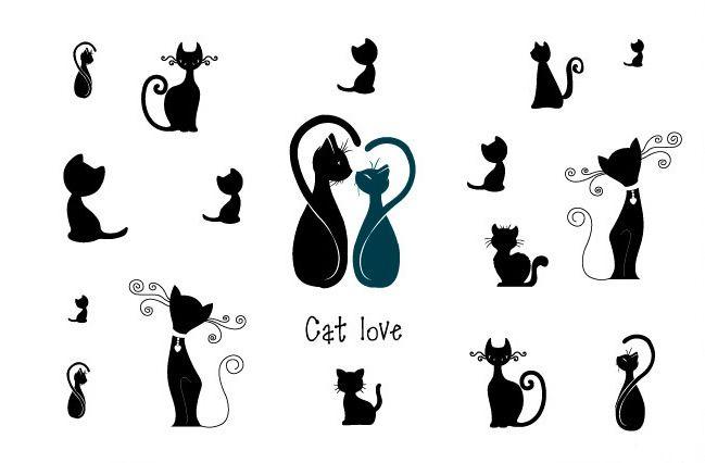 Hitam-kucing-putih-cinta-keren-stiker-tato-temporer-pria-wanita-kekasih-pasangan-seni-tubuh-tahan-air.jpg (649×426)