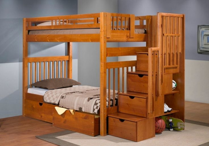 Bunk Bed With Stairs bunk beds with stairs pk home