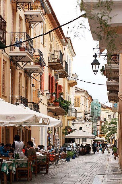 Streets of Nafplio, Greece