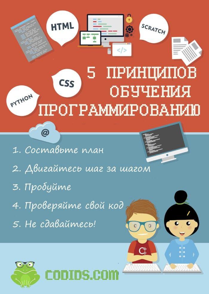5 принципов обучения программированию