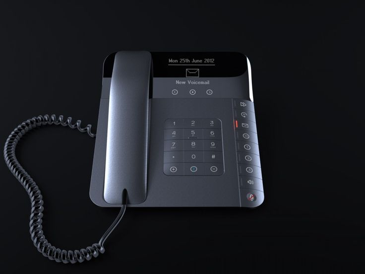 Desk phone concept by Andrew Mitchell.