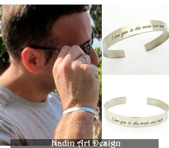 Sterling Silber Armband mit Gravur / Herrenschmuck von NadinArtDesign auf DaWanda.com