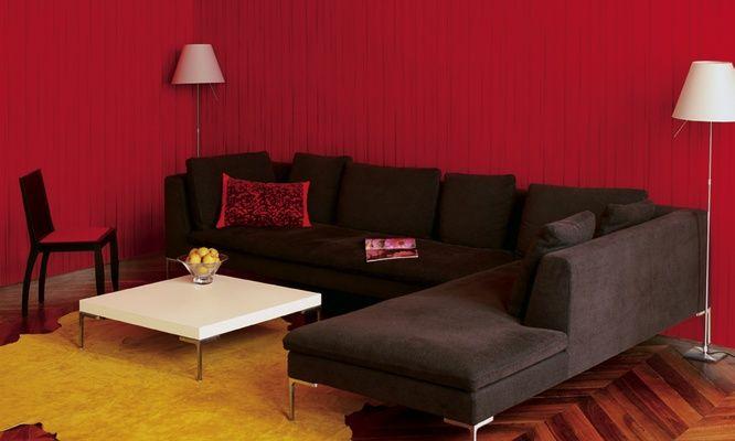 Elitis XXL Voile.  Textured pinstriped designer wallpaper.