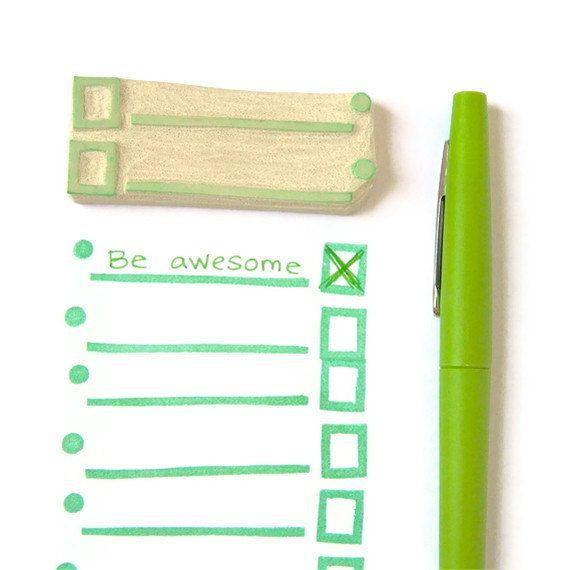 List Lover's List Maker Stamp - Rubber Stamp - Cling Rubber Stamp. $12.00, via Etsy.