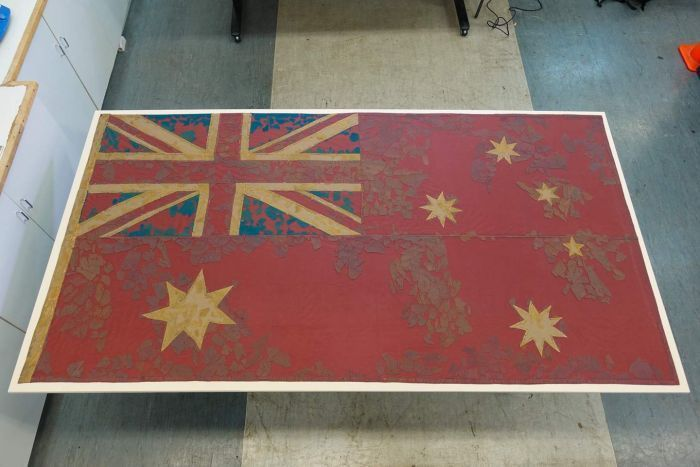 First ever Australian flag