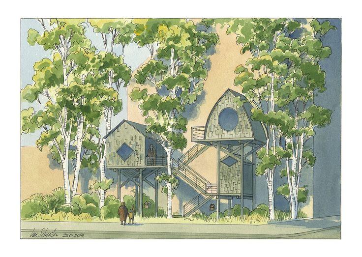 17 best images about utopie luc schuitten on pinterest for Architecture vegetale