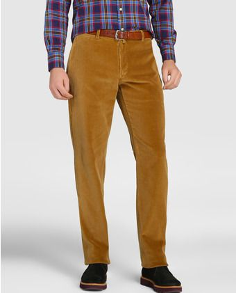 Pantalón de pana de hombre Barbour regular beige