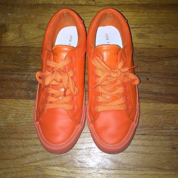 Orange sneakers!!! Organize sneakers, have been worn, but def statement!!! Joe Fresh Shoes Sneakers