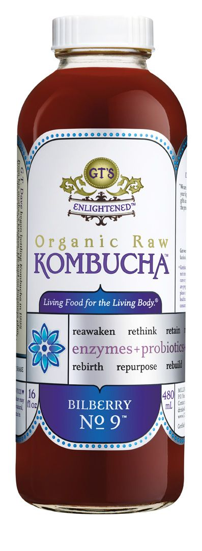 GT's Enlightened Bilberry No. 9 Kombucha. Organic & Raw. #Kombucha